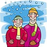 χειμώνας παιδιών απεικόνιση αποθεμάτων
