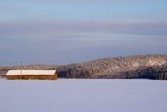χειμώνας πεδίων σιταποθη&k Στοκ Εικόνα