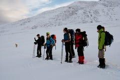 χειμώνας πεζοπορίας Στοκ Φωτογραφία