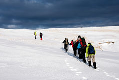 χειμώνας πεζοπορίας Στοκ εικόνα με δικαίωμα ελεύθερης χρήσης
