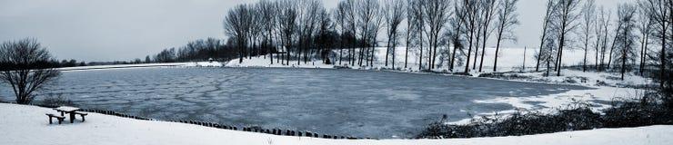 χειμώνας πεζοπορώ Στοκ Φωτογραφία