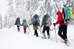 χειμώνας πεζοπορώ Στοκ εικόνες με δικαίωμα ελεύθερης χρήσης