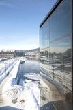 χειμώνας περιπάτων παραλιώ& Στοκ Εικόνες