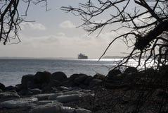 χειμώνας πετρελαιοφόρων παραλιών Στοκ Εικόνες