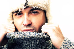 χειμώνας πορτρέτου ατόμων Στοκ φωτογραφίες με δικαίωμα ελεύθερης χρήσης