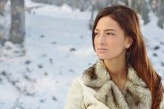 χειμώνας πορτρέτου στοκ φωτογραφίες