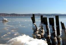 χειμώνας ποταμών Στοκ φωτογραφία με δικαίωμα ελεύθερης χρήσης