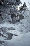χειμώνας ποταμών Στοκ Φωτογραφίες