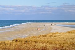 Χειμώνας που περπατά στην παραλία Στοκ φωτογραφία με δικαίωμα ελεύθερης χρήσης