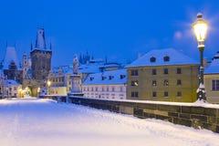 Χειμώνας Πράγα, Τσεχία, Ευρώπη στοκ εικόνα