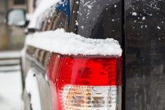 Χειμώνας προβολέων στο χιόνι Στοκ Εικόνες