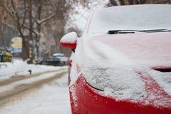 Χειμώνας προβολέων στο χιόνι Στοκ Φωτογραφία