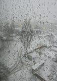Χειμώνας πόλεων βροχής χιονιού ναυπηγείων Στοκ φωτογραφία με δικαίωμα ελεύθερης χρήσης