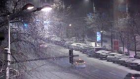 Χειμώνας πόλεων απόθεμα βίντεο