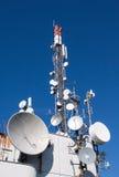 χειμώνας πύργων τηλεπικοινωνιών νύχτας της Μόσχας πόλεων περιοχής dmitrov Στοκ εικόνα με δικαίωμα ελεύθερης χρήσης