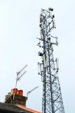 χειμώνας πύργων τηλεπικοινωνιών νύχτας της Μόσχας πόλεων περιοχής dmitrov Στοκ Εικόνες