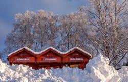Χειμώνας σε Ã-ã-stersund Στοκ φωτογραφία με δικαίωμα ελεύθερης χρήσης