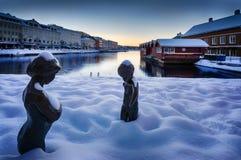 Χειμώνας σε Arendal Στοκ Φωτογραφίες
