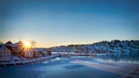 Χειμώνας σε Arendal Στοκ φωτογραφίες με δικαίωμα ελεύθερης χρήσης