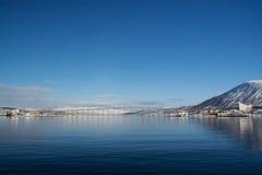 Χειμώνας σε Tromsoe, Νορβηγία Στοκ φωτογραφία με δικαίωμα ελεύθερης χρήσης