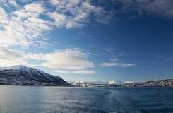 Χειμώνας σε Tromsoe, Νορβηγία Στοκ Φωτογραφίες