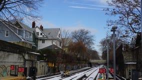 χειμώνας σιδηροδρόμων Στοκ Εικόνες