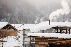 χειμώνας σκηνής επαρχίας Στοκ εικόνα με δικαίωμα ελεύθερης χρήσης