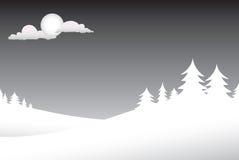χειμώνας σκηνής νύχτας Στοκ φωτογραφία με δικαίωμα ελεύθερης χρήσης