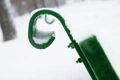χειμώνας σκηνής πάγκων στοκ εικόνες