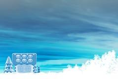 χειμώνας σκηνής σπιτιών μελοψωμάτων διανυσματική απεικόνιση