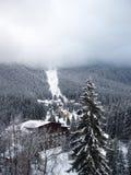 χειμώνας σκι τοπίων Στοκ Εικόνες