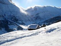 χειμώνας σπιτιών διακοπών Στοκ εικόνα με δικαίωμα ελεύθερης χρήσης