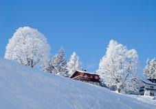 χειμώνας σπιτιών διακοπών Στοκ φωτογραφίες με δικαίωμα ελεύθερης χρήσης
