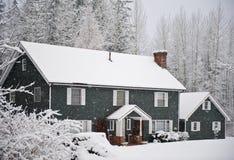 χειμώνας σπιτιών Στοκ εικόνες με δικαίωμα ελεύθερης χρήσης