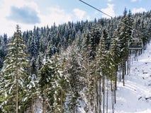 Χειμώνας στα βουνά Στοκ Εικόνες