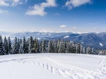 Χειμώνας στα βουνά Στοκ εικόνες με δικαίωμα ελεύθερης χρήσης