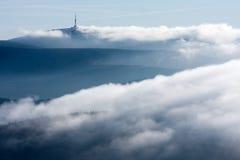 Χειμώνας στα βουνά Hrubý Jeseník στοκ εικόνες