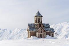 Χειμώνας στα μεγαλύτερα βουνά Καύκασου Στοκ φωτογραφία με δικαίωμα ελεύθερης χρήσης
