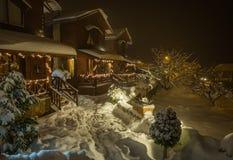 Χειμώνας στα Τρίκαλα Korinthias, Πελοπόννησος, Ελλάδα Στοκ Εικόνες