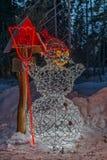 Χειμώνας στα υψηλά βουνά Tatras Φωτισμένος χιονάνθρωπος Στοκ φωτογραφία με δικαίωμα ελεύθερης χρήσης