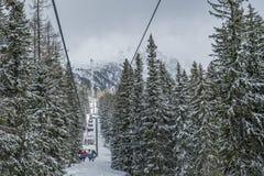 Χειμώνας στα υψηλά βουνά Tatras Στοκ Φωτογραφίες
