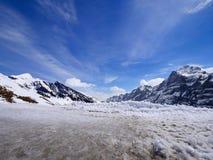Χειμώνας στην Ελβετία, θέα βουνού στην Ελβετία Στοκ εικόνα με δικαίωμα ελεύθερης χρήσης