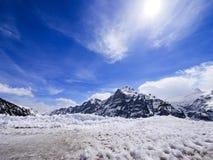 Χειμώνας στην Ελβετία, θέα βουνού στην Ελβετία Στοκ Φωτογραφία