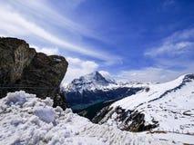 Χειμώνας στην Ελβετία, θέα βουνού στην Ελβετία Στοκ φωτογραφία με δικαίωμα ελεύθερης χρήσης