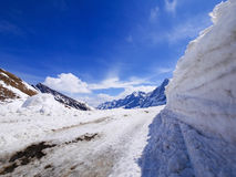 Χειμώνας στην Ελβετία, θέα βουνού στην Ελβετία Στοκ Φωτογραφίες