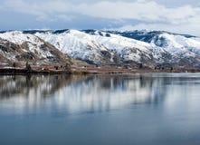 Χειμώνας στην κοιλάδα ποταμών της Κολούμπια, WA στοκ εικόνα με δικαίωμα ελεύθερης χρήσης