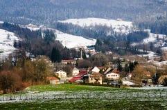 Χειμώνας στην περιοχή κραμπολάχανου στη νότια Γαλλία Στοκ Εικόνα