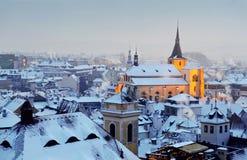 Χειμώνας στην Πράγα στοκ εικόνα