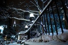 Χειμώνας στην πόλη της Νέας Υόρκης Στοκ εικόνες με δικαίωμα ελεύθερης χρήσης