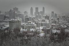 Χειμώνας στην πόλη του Μόντρεαλ στοκ εικόνες